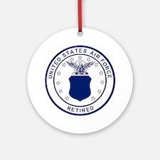 USAF-Retired-Blue-Bonnie.gif Round Ornament