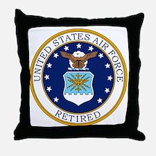 USAF-Retired-Bonnie.gif Throw Pillow
