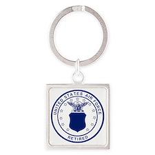 USAF-Retired-Blue-Bonnie.gif Square Keychain