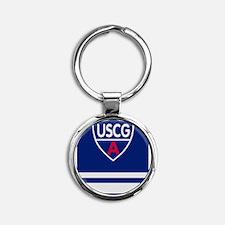 USCGAux-Rank-SO-Greetings.gif Round Keychain