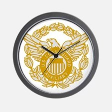 USCGAux-Black-Shirt-7X Wall Clock