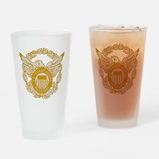 USCGAux-Black-Shirt-7X Drinking Glass