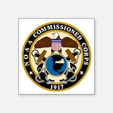 "NOAA-Officer-Black-Shirt Square Sticker 3"" x 3"""