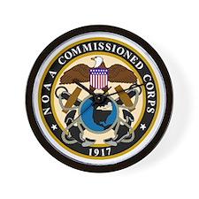 NOAA-Officer-Black-Shirt Wall Clock