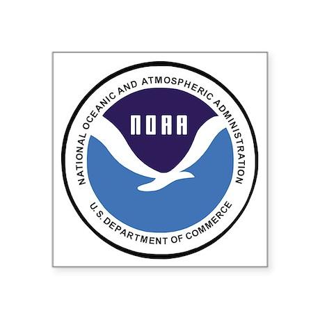 """NOAA-Emblem-XX.gif Square Sticker 3"""" x 3"""""""