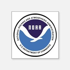 "NOAA-Emblem-XX.gif Square Sticker 3"" x 3"""