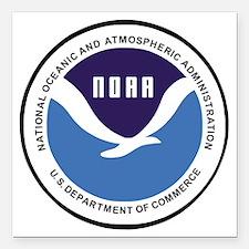 "NOAA-Emblem-XX.gif Square Car Magnet 3"" x 3"""