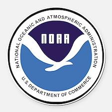 NOAA-Emblem-XX.gif Round Car Magnet