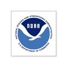 "NOAA-Black-Shirt Square Sticker 3"" x 3"""