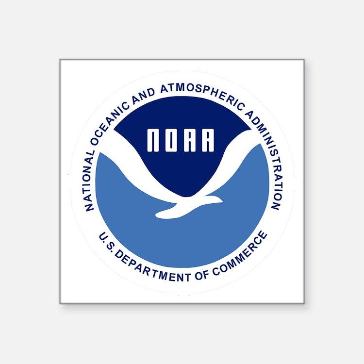 "NOAA-Black-Shirt Square Sticker 3"" x 3"""