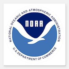 "NOAA-Black-Shirt Square Car Magnet 3"" x 3"""