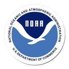 NOAA-Black-Shirt Round Car Magnet
