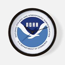 NOAA-Black-Shirt Wall Clock