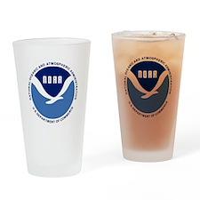 NOAA-Black-Shirt Drinking Glass