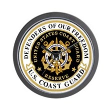 USCGR-Defenders-Shirt-Black-2.gif Wall Clock