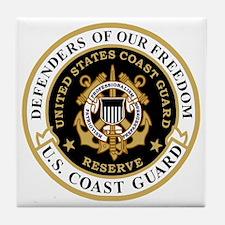 USCGR-Defenders-Shirt-Black-2.gif Tile Coaster