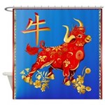 SHOWER CRTAIN Year Of The Ox Shower Curtain
