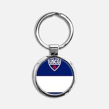 USCGAux-Rank-NADCO-Journal.gif Round Keychain
