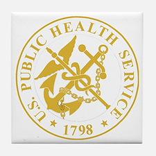 USPHS-Black-Shirt-4 Tile Coaster
