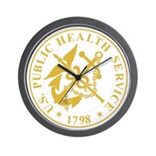 USPHS-Black-Shirt-4 Wall Clock
