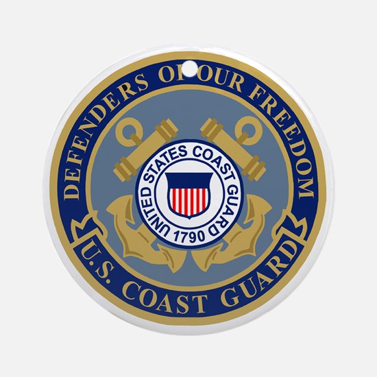 USCG-Defenders-Blue-Blue.gif Round Ornament