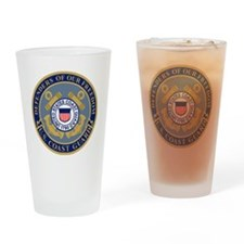 USCG-Defenders-Blue-Blue.gif Drinking Glass