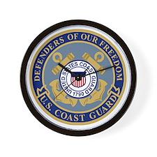 USCG-Defenders-Blue-Blue.gif Wall Clock