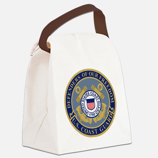 USCG-Defenders-Blue-Blue.gif Canvas Lunch Bag