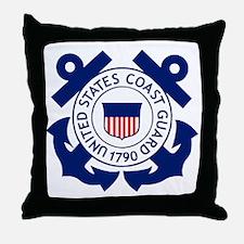 Delete-USCG-Logo-2-X.gif Throw Pillow