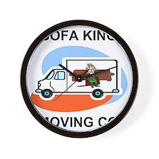 Sofa-King-Movers-Shirt-Front.gif Wall Clock