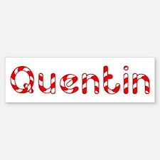 Quentin - Candy Cane Bumper Bumper Bumper Sticker