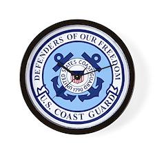 USCG-Defenders-Blue-White.gif Wall Clock
