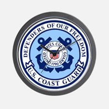 USCG-Defenders-Blue-White.gif Wall Clock
