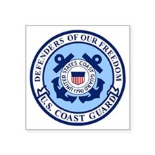 "USCG-Defenders-Blue-White.g Square Sticker 3"" x 3"""