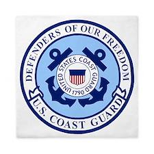 USCG-Defenders-Blue-White.gif Queen Duvet