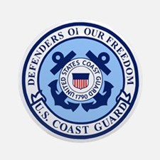 USCG-Defenders-Blue-White.gif Round Ornament