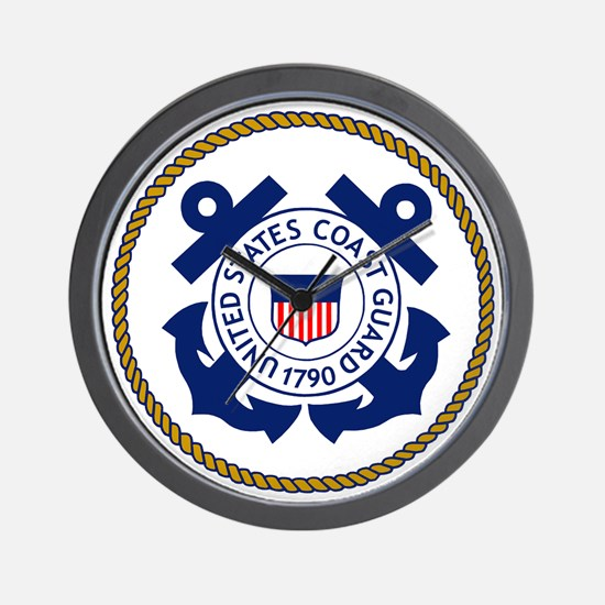 USCG-Logo-3-Chief.gif Wall Clock