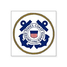 "USCG-Logo-3-Chief.gif Square Sticker 3"" x 3"""