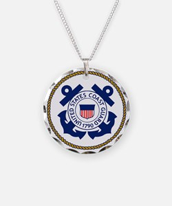 USCG-Logo-3-Chief.gif Necklace Circle Charm