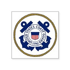 "USCG-Logo-3-Chief-X.gif Square Sticker 3"" x 3"""