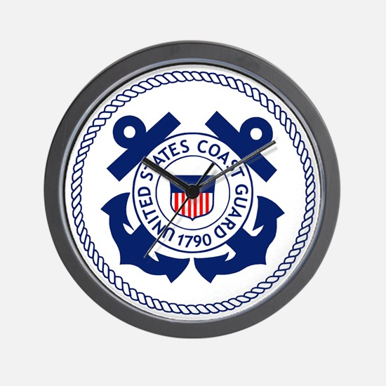 USCG-Logo-3-Enlisted-X.gif Wall Clock