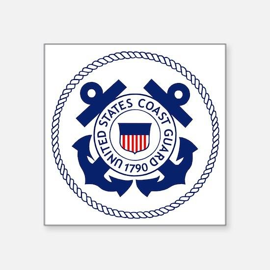 "USCG-Logo-3-Enlisted-X.gif Square Sticker 3"" x 3"""