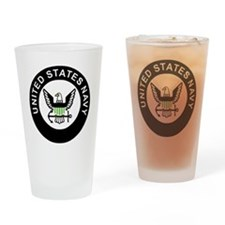 Navy-Logo-For-AN-X.gif Drinking Glass
