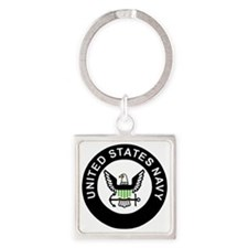 Navy-Logo-For-AN-X.gif Square Keychain