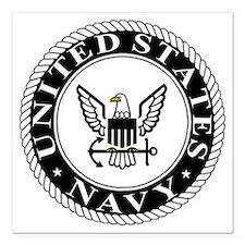 """Navy-Logo-15-SN.gif Square Car Magnet 3"""" x 3"""""""