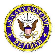 USNR-Retired-Bonnie.gif Round Car Magnet