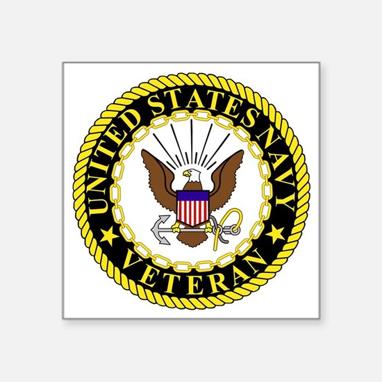 "Navy-Veteran-Bonnie-2.gif Square Sticker 3"" x 3"""