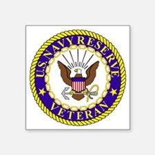 "USNR-Veteran-Bonnie.gif Square Sticker 3"" x 3"""
