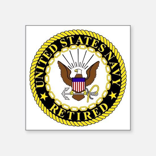 "Navy-Retired-Bonnie-2.gif Square Sticker 3"" x 3"""