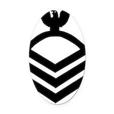 Navy-CPO-Whites-X.gif Oval Car Magnet